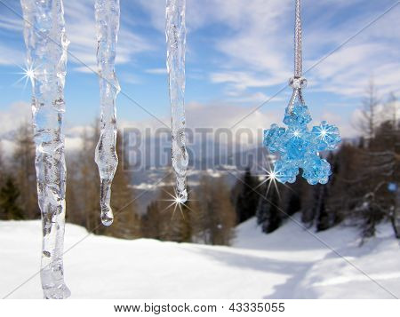 Icicles with crystal star