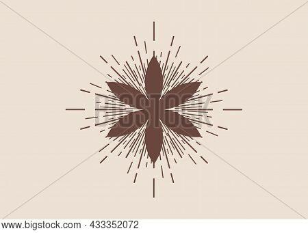 Seed Of Life Symbol Sacred Geometry. Boho Style Logo Tattoo Icon. Geometric Mystic Lotus Of Alchemy