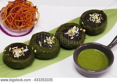 Hara Bhara Kabab Or Kebab, Healthy Vegetarian Indian Street Snack Made With Potatoes, Spinach, Green