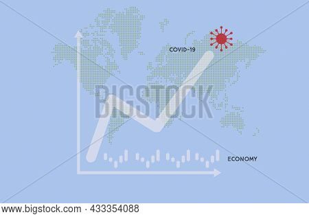 Coronavirus Impact Global Economy Stock Markets Financial Crisis Concept.