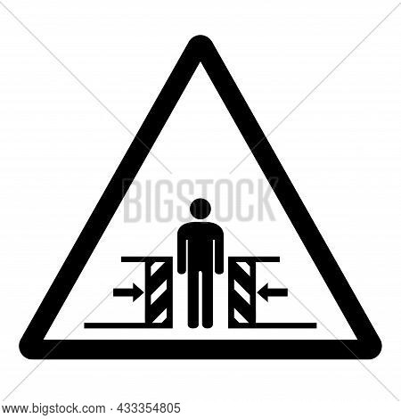 Body Crush Force From Two Sides Symbol Sign, Vector Illustration, Isolate On White Background Label