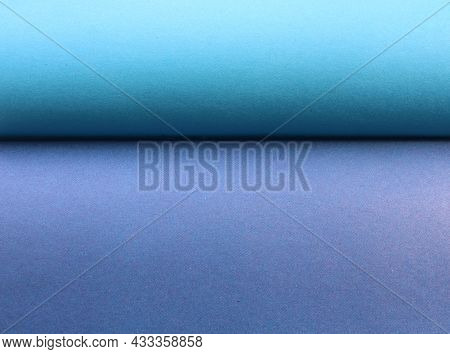 Blue-gray Graphic Resource Bisected By A Shaded Line, Paper Texture Of Two Sheets Tucked In A Wave,