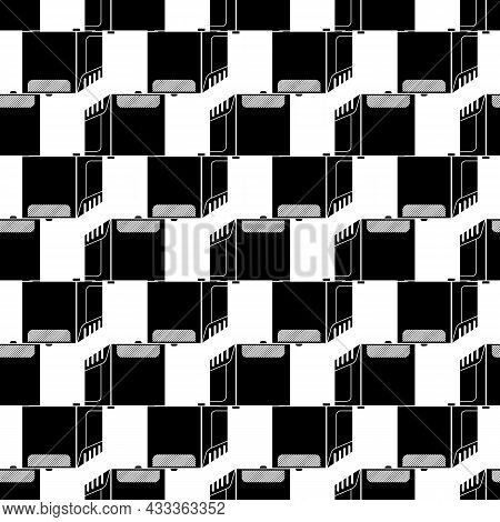Large Air Conditioning Pattern Seamless Background Texture Repeat Wallpaper Geometric Vector