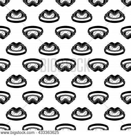 Snorkeling Mask Pattern Seamless Background Texture Repeat Wallpaper Geometric Vector