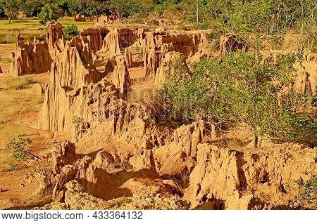 Fantastic Landscape Of Lalu Or Thailand's Canyon, A Natural Phenomenon In Ta Phraya National Park, S