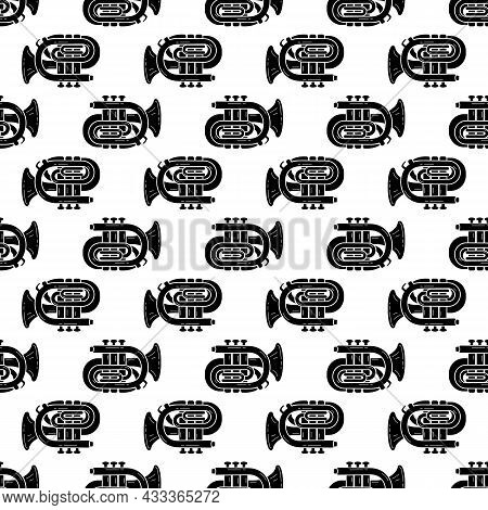 Orchestra Trumpet Pattern Seamless Background Texture Repeat Wallpaper Geometric Vector