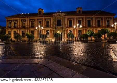 View Of The Street In The Historical Centre Of Seville, A Big Tourist Centre In Spain