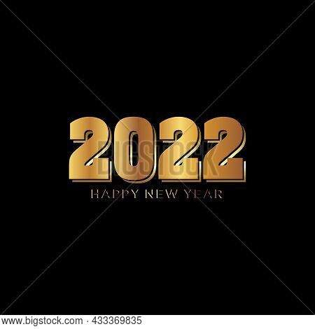 Happy New Year 2022 Banner.golden Vector Luxury Text 2022 Happy New Year. Gold Festive Numbers Desig