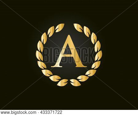Initial Monogram A Logo With Luxurious Concept. A Luxury Logo Template In Vector For Restaurant, Roy