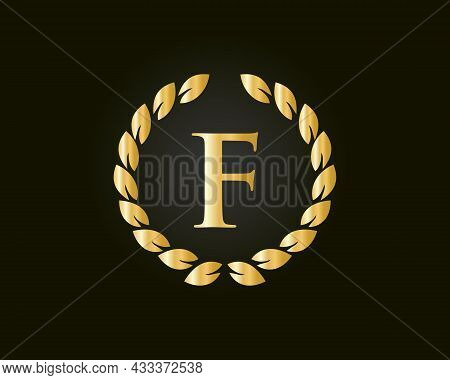 Initial Letter F With Luxurious Concept. F Luxury Logo Template In Vector For Restaurant, Royalty, B