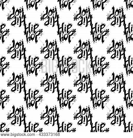 Hip Hop Pattern Seamless Background Texture Repeat Wallpaper Geometric Vector