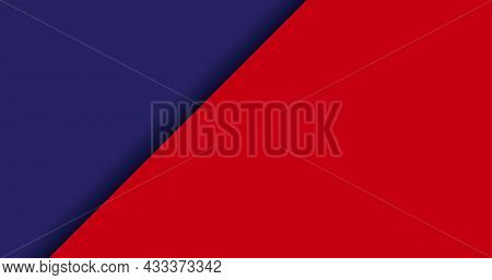 Color Background Blue And Red For Banner, Two Tone Opposite Colors, Blue And Red Paper Background, W