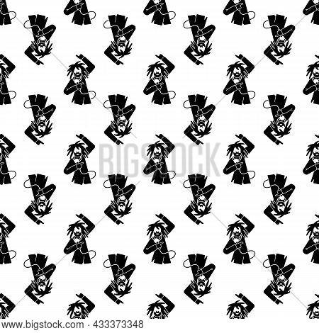 Rapper Singer Pattern Seamless Background Texture Repeat Wallpaper Geometric Vector
