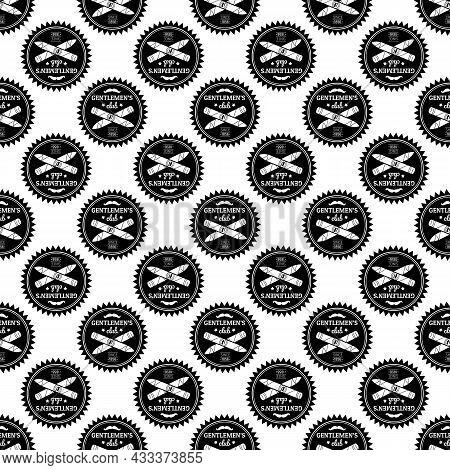 Gentleman Smoking Club Logo. Simple Illustration Of Gentleman Smoking Club Vector Logo For Web Desig