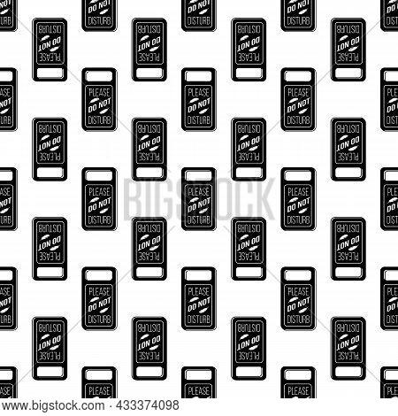 Dont Disturb Motel Tag Pattern Seamless Background Texture Repeat Wallpaper Geometric Vector