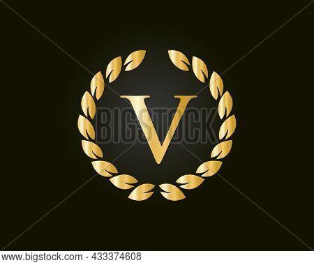 Monogram V Logo With Luxurious Concept. V Luxury Logo Template In Vector For Restaurant, Royalty, Bo