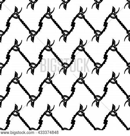 Secateur Pattern Seamless Background Texture Repeat Wallpaper Geometric Vector