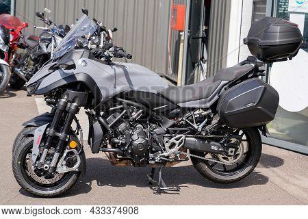Bordeaux , Aquitaine  France - 09 10 2021 : Harley Davidson Pan America 1250 Adventure Touring Side