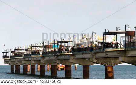 Miedzyzdroje, Poland -05.09.2021 - Sea Pier In Międzyzdroje