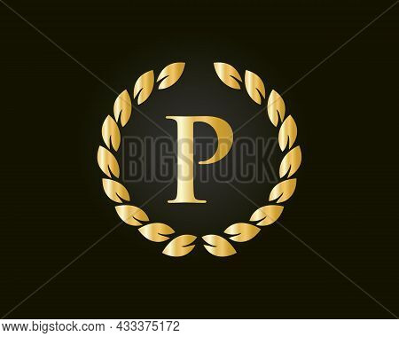Letter P Logo With Luxurious Concept. P Luxury Logo Template In Vector For Restaurant, Royalty, Bout