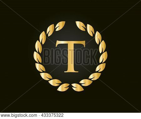 Letter T Logo With Luxurious Concept. T Luxury Logo Template In Vector For Restaurant, Royalty, Bout