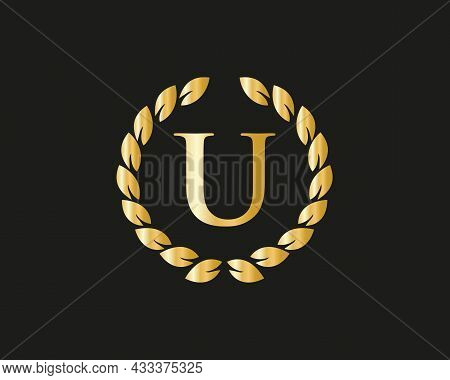 Monogram U Logo With Luxurious Concept. U Luxury Logo Template In Vector For Restaurant, Royalty, Bo