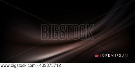 Dark Smooth Elegant Brown Satin Abstract Design Texture