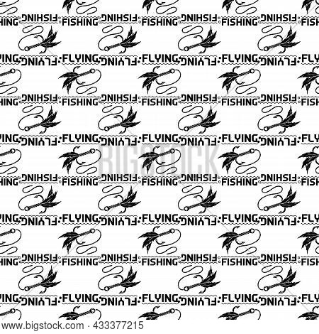 Flying Fishing Logo. Simple Illustration Of Flying Fishing Vector Logo For Web Design Isolated On Wh