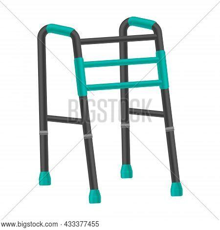 Metal Walkers For The Elderly. Orthopedic Walkers For The Elderly And People With Sick Legs And Spin