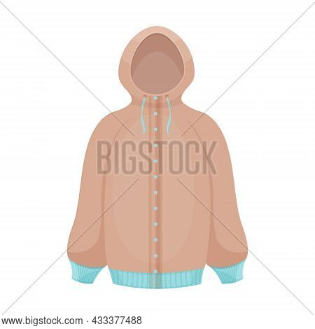 Stylish Beige Insulated Jacket With A Hood. Jacket For Walking In Winter And Autumn Weather. Youth S