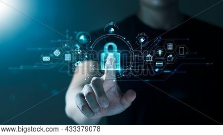 Concept Of Cyber Security, Information Security And Encryption, Secure Access To User's Personal Inf