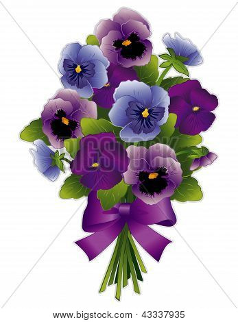 Pansy Flower Bouquet