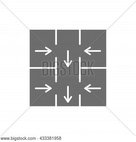 Evacuation Plan, Emergency Evacuation Sign Grey Icon.