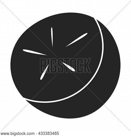 Radish Vector Icon.black Vector Icon Isolated On White Background Radish.