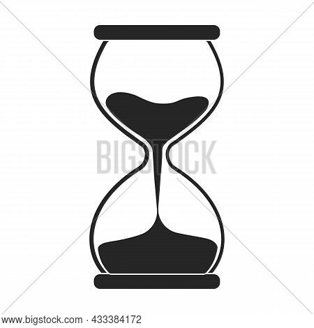 Hourglass Vector Icon.black Vector Icon Isolated On White Background Hourglass.