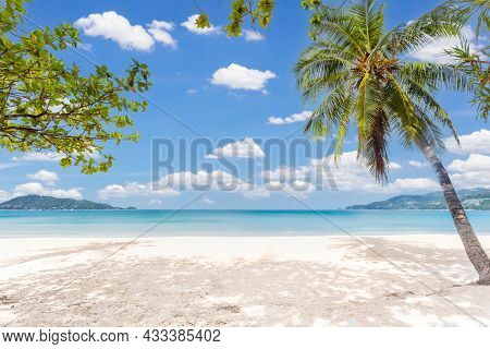 Patong Beach In Phuket, Thailand. Phuket Is A Popular Destination Famous.