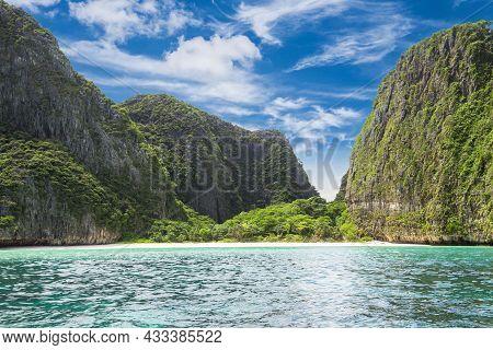 The Maya Beach Phiphi Island Krabi Thailand.