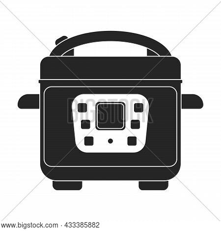 Slow Cooker Vector Icon.black Vector Icon Isolated On White Background Slow Cooker.