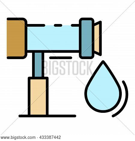 Irrigation Drop System Icon. Outline Irrigation Drop System Vector Icon Color Flat Isolated