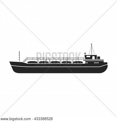 Barge Vector Icon.black Vector Icon Isolated On White Background Barge.