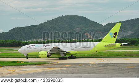 Airplane At Da Nang Airport, Vietnam