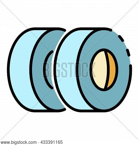 Car Tyres Icon. Outline Car Tyres Vector Icon Color Flat Isolated