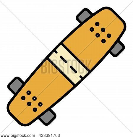Extreme Skateboard Icon. Outline Extreme Skateboard Vector Icon Color Flat Isolated