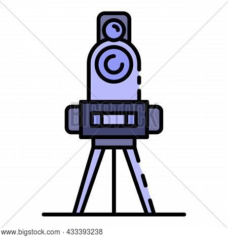 Cadastral Equipment Icon. Outline Cadastral Equipment Vector Icon Color Flat Isolated