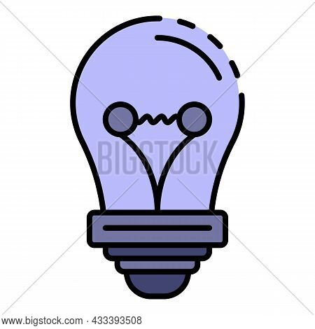Classic Bulb Icon. Outline Classic Bulb Vector Icon Color Flat Isolated