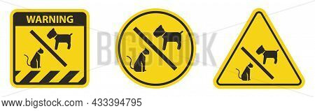 No Pet Allowed Symbol On White Background