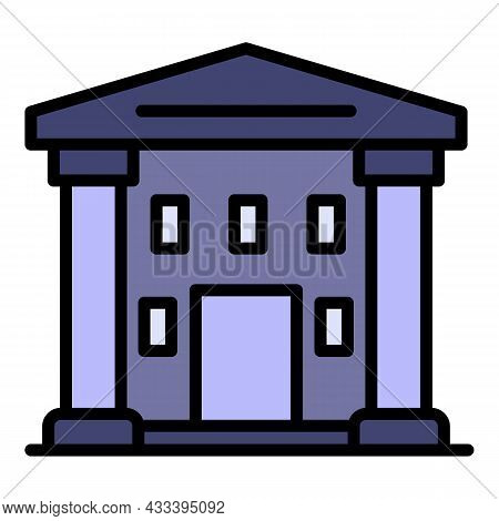 Supreme Courthouse Icon. Outline Supreme Courthouse Vector Icon Color Flat Isolated