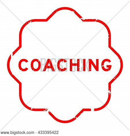 Grunge Red Coaching Word Rubber Seal Stamp On White Background
