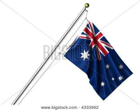 Isolated Australian Flag