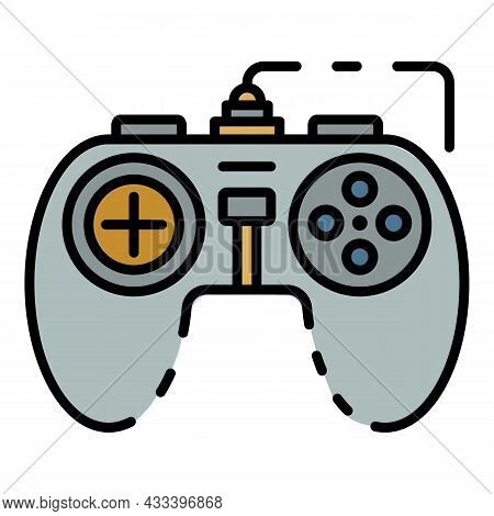 Game Joystick Icon. Outline Game Joystick Vector Icon Color Flat Isolated